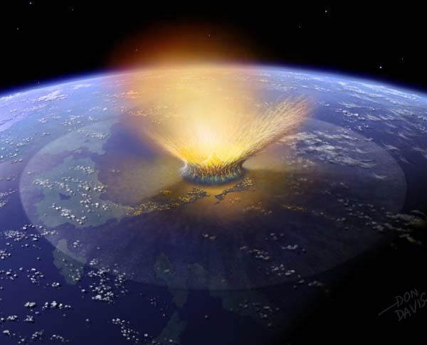Cratera Chicxulub no litoral mexicano, com 177 quilômetros de largura, ela foi apontada como o provável local de queda do meteorito. (Divulgação).