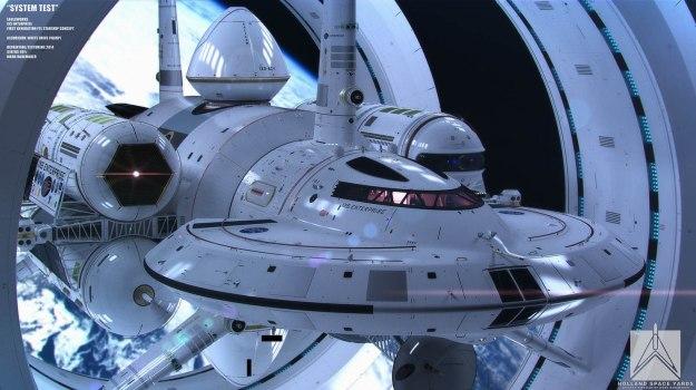 Foto ilustrativa de um modelo de nave de dobra