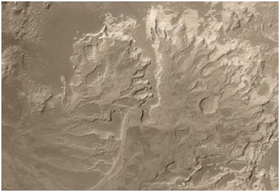 Delta de rio em Marte