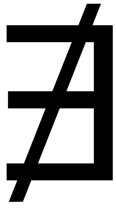 Símbolo lógico para inexistente